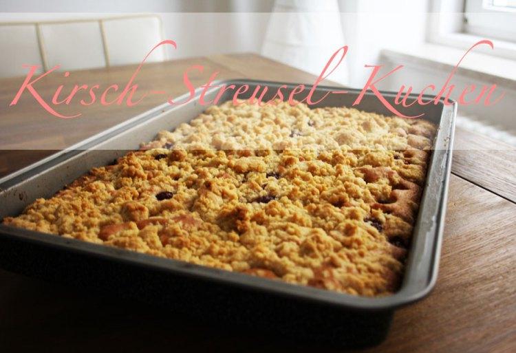Kirsch streusel kuchen dieser blechkuchen schmeckt mamas for Kuchen zusammenstellen programm