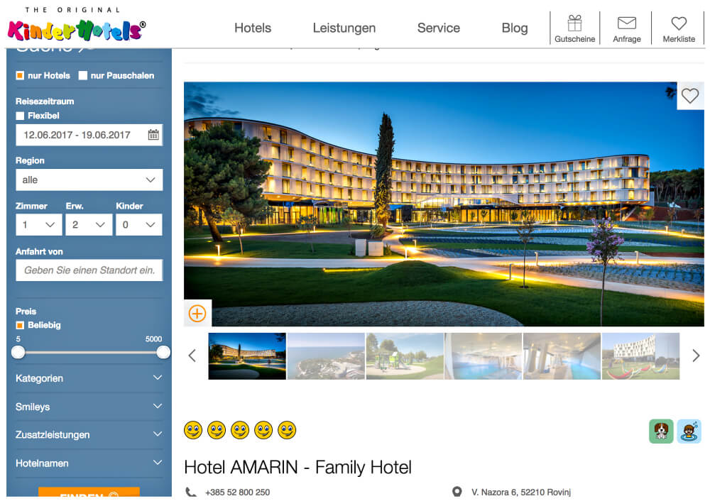 Kinderhotels Kroatien Amarin