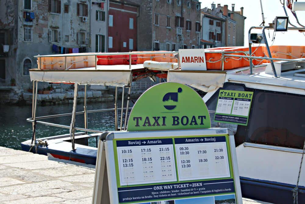 Taxiboot Rovinj
