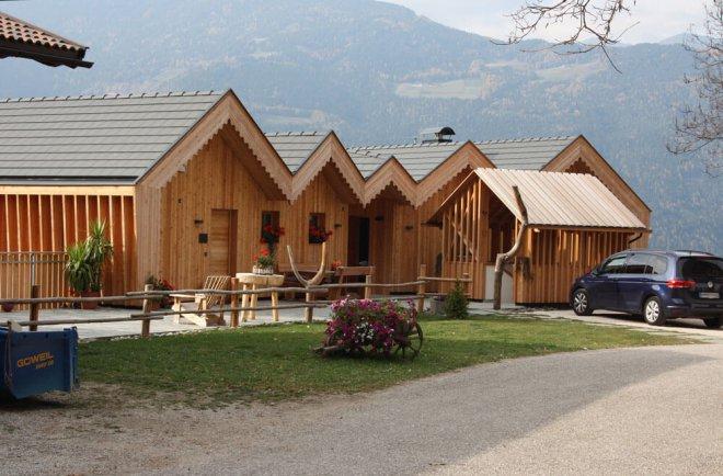 Ferien auf dem Bauernhof in Chalets auf dem Niederthaler Hof