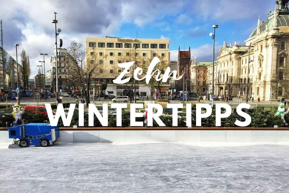 München im Winter mit Kind