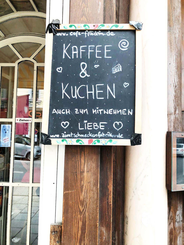 Samstag im Café Fräulein am Viktualienmarkt