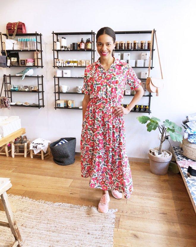 Kleid mit Blumenmuster aus Griechenland