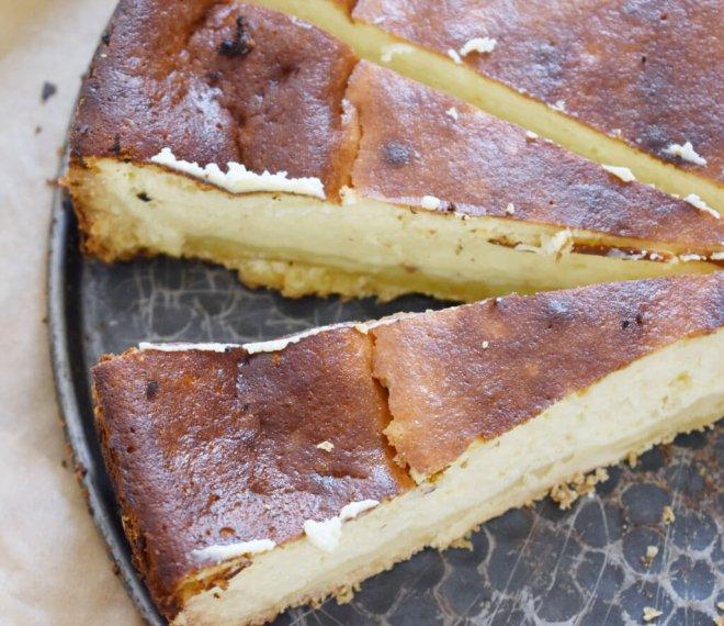 Käsekuchen Rezept für Cheesecake mit Frischkäse