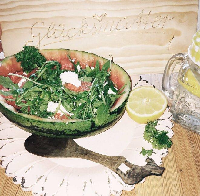 Sommer Salat Rezept mit Wassermelone