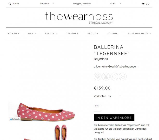 Bayerinas bei the wearness shoppen