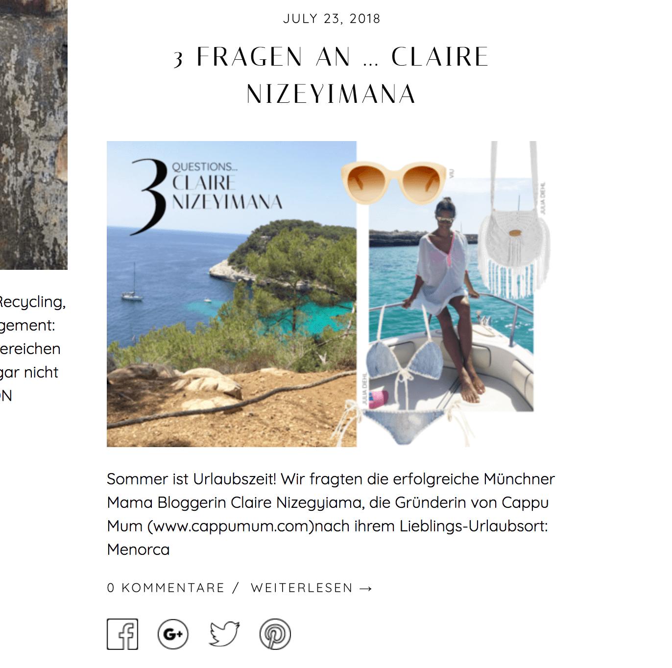 Claire Nizeyimana im Interview bei the wearness, dem Online Market Place für nachhaltige Mode und Accessoires