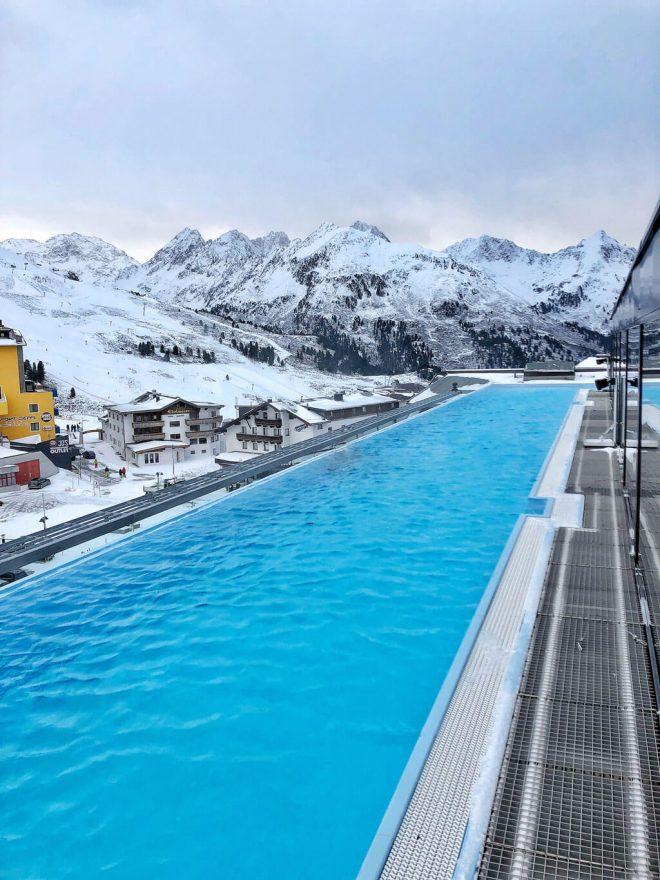 Mooshaus Kühtai Infinity Pool Berge