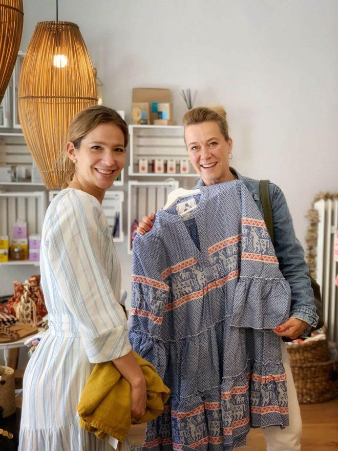 Shopping Spaß im Lemoni Shop in der Münchner Maxvorstadt mit Stylist Cappu Mum