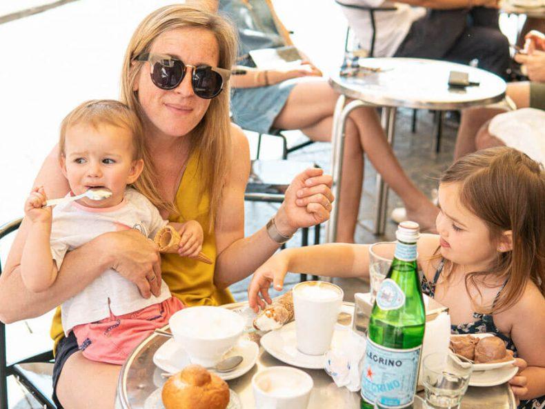 StiftScherePapier Italien mit Familie