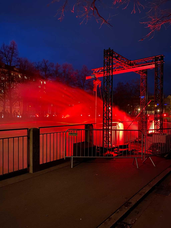 Burning River in München an der Isar