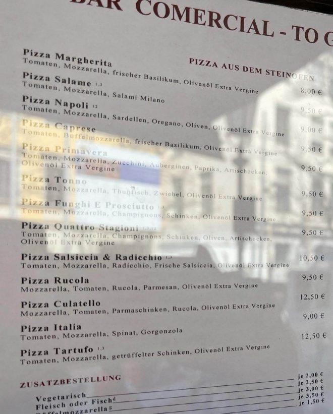 Commercial München Pizza zum Mitnehmen